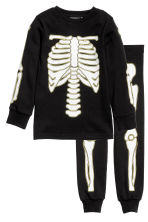 Jersey pyjamas - Black/Skeleton -  | H&M CN 1